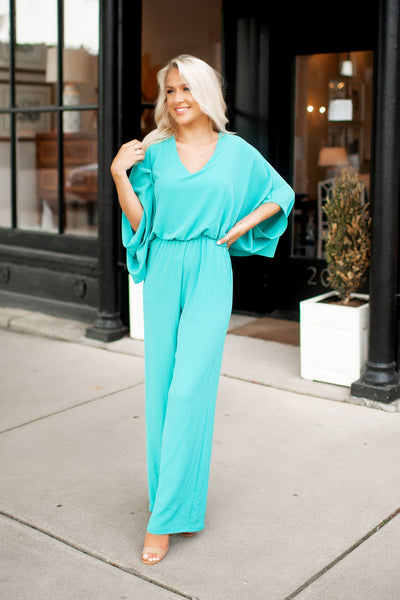 The Meredith Jumpsuit (Mint)
