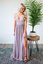 The Diana Gown (Taupe) FINAL SALE