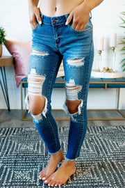 Cello Frayed Skinnies (Dark)