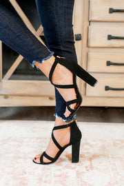The Milan Strappy Heels (Black)