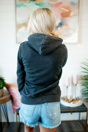 Burnout Fleece Pullover (Charcoal)