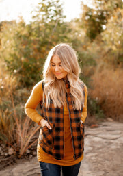 The Kodiak Plaid Vest (Caramel)