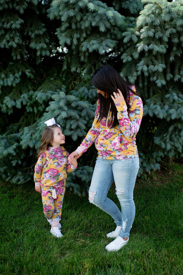 KIDS Ampersand Joggers (Blooming Florals) FINAL SALE