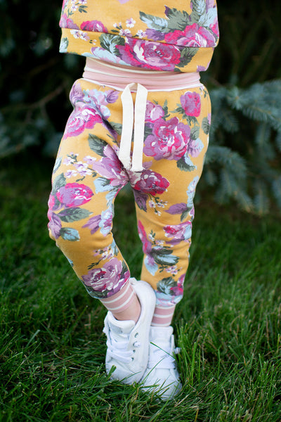 KIDS Ampersand Joggers (Blooming Florals)