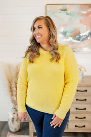The Della Knit Sweater (Yellow) FINAL SALE