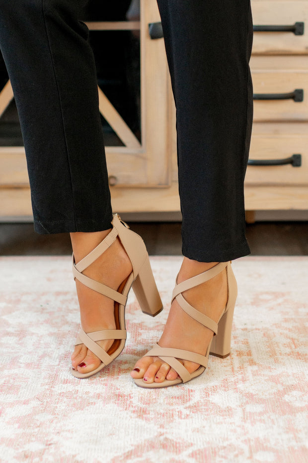 The Milan Strappy Heels (Nude)