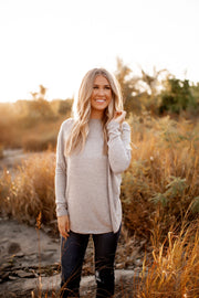 Autumn Leaves Dolman Top (Taupe Grey)