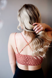 Love N Lace Bralette (Brick)