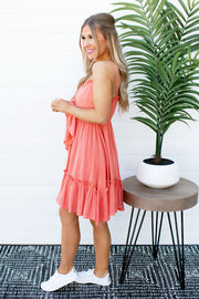 The Sophie Ruffle Dress (Coral)