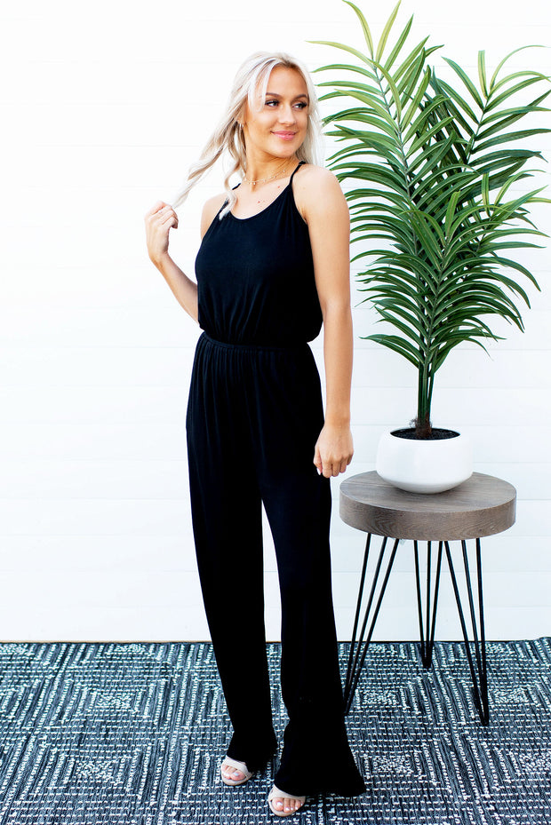 Bad and Boujee Flared Jumpsuit (Black)