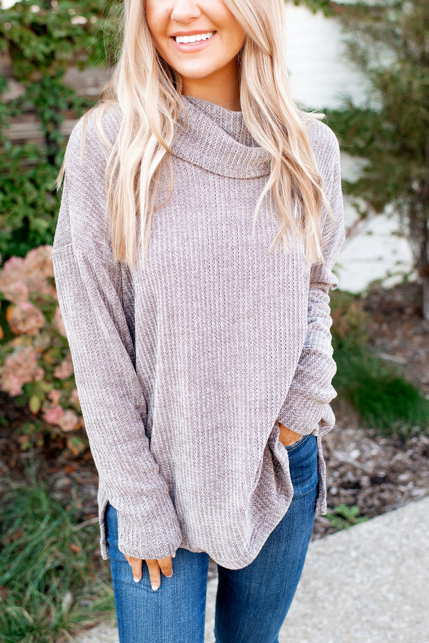 Chilly Evenings Chenille Sweater (Grey)