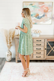 The Lucca Babydoll Dress (Olive)