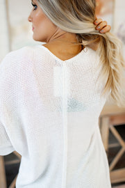 The Way You Move Knit Cardigan (White)