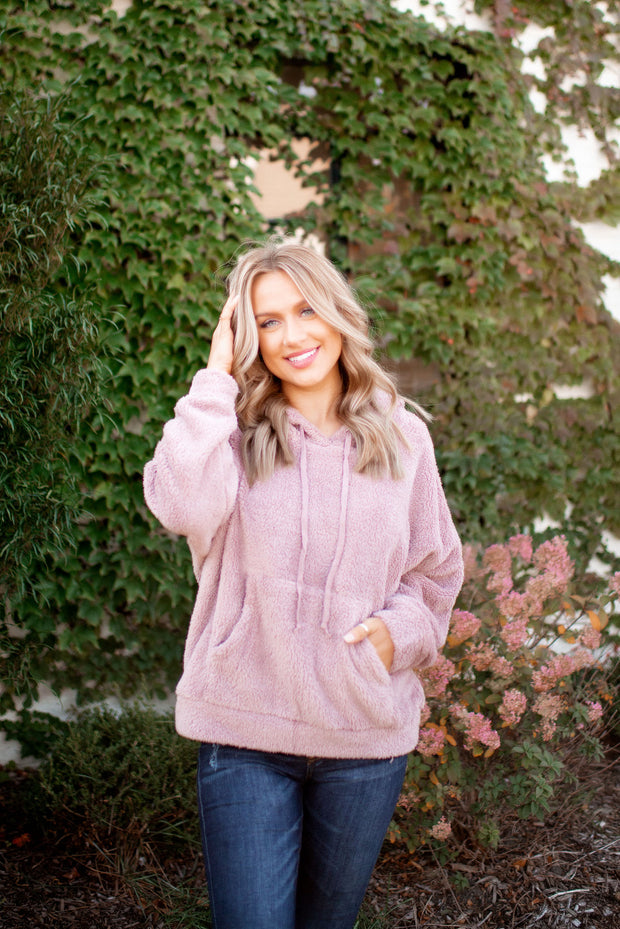 Let Me Love You Sherpa Pullover (Mauve)