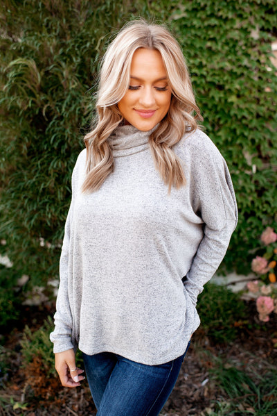 The Way It Is Dolman Top (Grey)