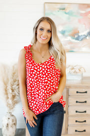 Sweet Beginnings Tank (Red/Ivory)