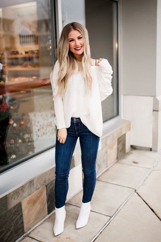Slouchy Sweater (Ivory)
