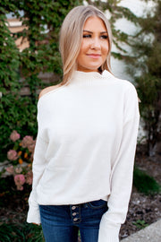 Chenille Turtleneck (Ivory)