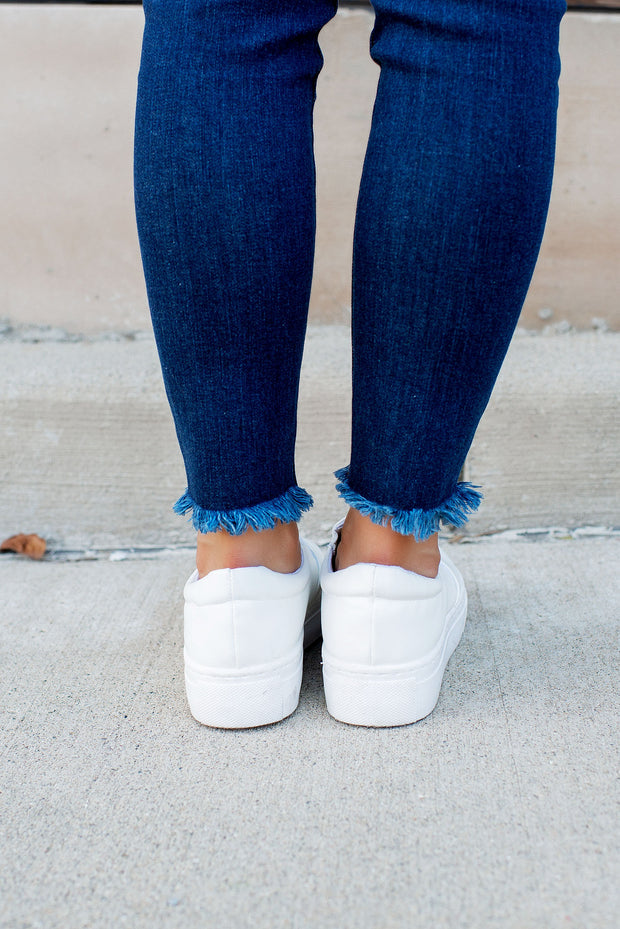 The Mason Platform Sneakers (White)