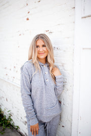 What They Want Knit Hoodie (Grey)