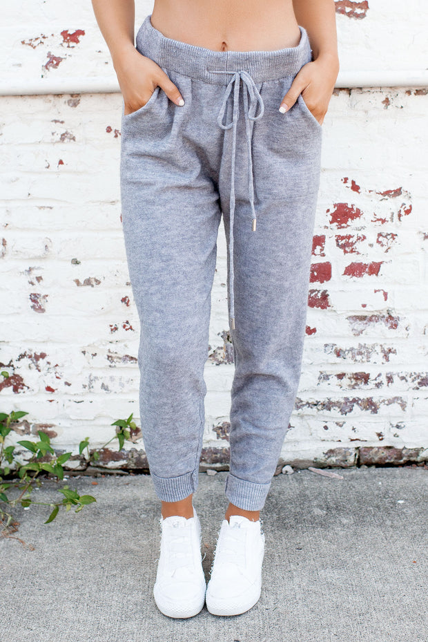 What They Want Knit Joggers (Grey)