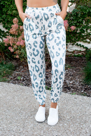 Here Kitty Kitty Joggers (Blue Grey Spots)