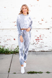The Tess Tie Dye Set (Grey)