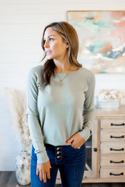On My Way Knit Top (Olive)