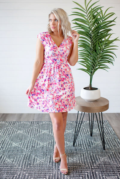 The Lizzie Floral Dress (Ivory)(FINAL SALE)