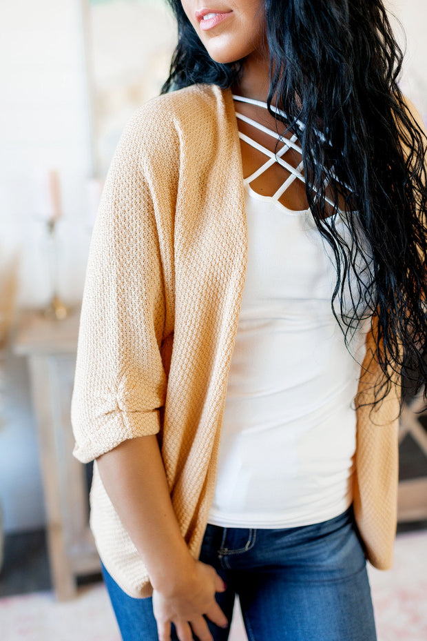 The Way You Move Knit Cardigan (Butterscotch)