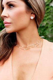 Bracha Crystal Layered Choker