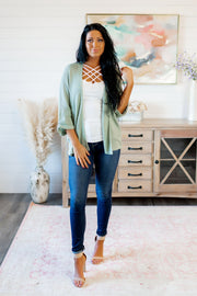 The Way You Move Knit Cardigan (Sage)