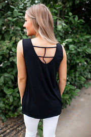 The Sloan Strappy Tank Top (Black)