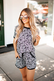 Crash At My Place Leopard Set (Grey/Black)