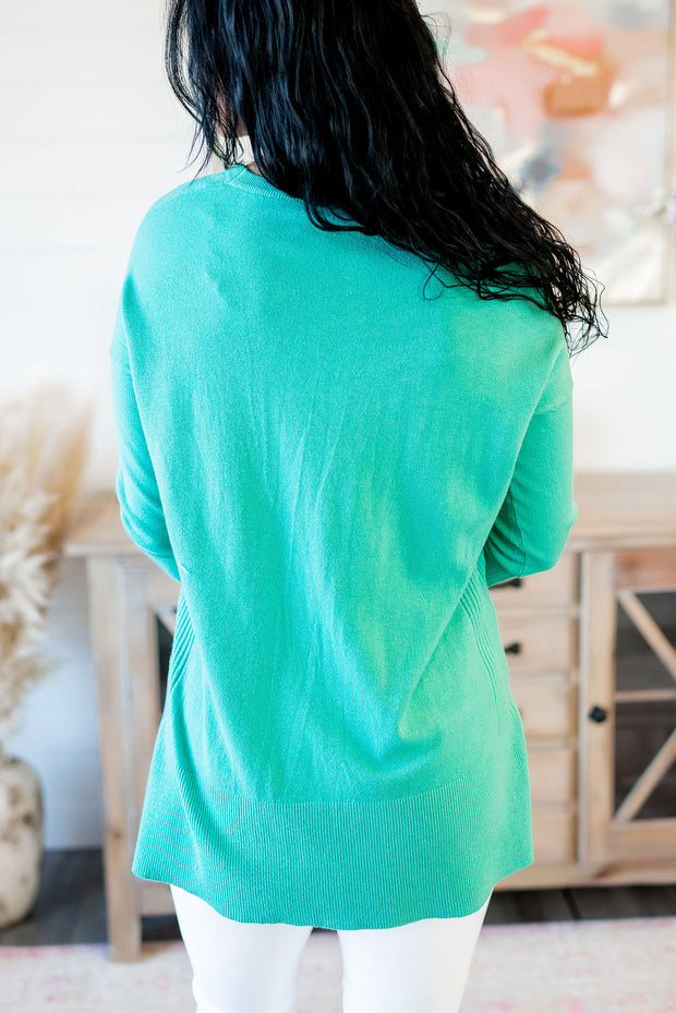 Next To You Knit Top (Green)