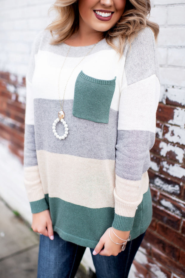 sweater, light weight, knit, fall, color block, contrast, fall, fashion, trendy, grey, sand, cream, olive