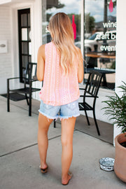 Striped Aztec Tank (Pink) FINAL SALE
