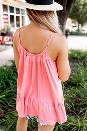 The Mona Tank Top (Coral)