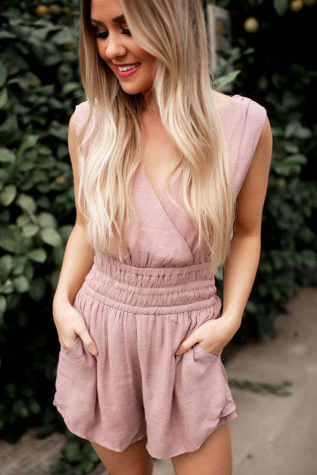 Greek Goddess Romper (Mauve)