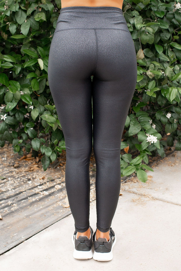 Mono B Pleather Leggings (Black)