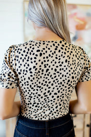 Spot To The Top Bodysuit (Taupe)