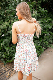 The Sophie Ruffle Dress (Ivory Floral)
