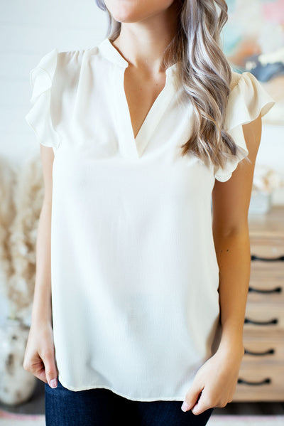 The Jerra Blouse (Ivory)