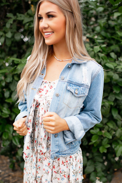 The Maxie Denim Jacket (Light Wash)