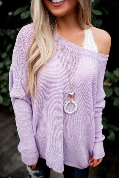 Slouchy Sweater (Lilac)