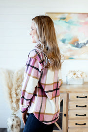 Bailey Rose Plaid Shacket (Pink)