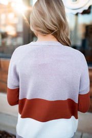 Take Me Everywhere Cardigan (Mauve/Rust)