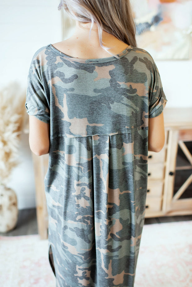 Dressed In Camo Maxi (Green/Taupe)