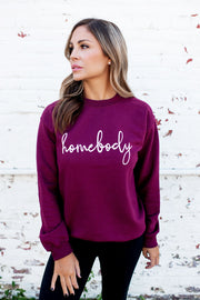 Homebody Crewneck (Burgundy)