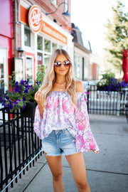Off The Shoulder Snake Blouse
